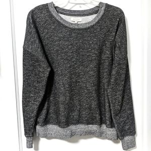 Madewell Mainstay Sweatshirt Pullover Heather Gray
